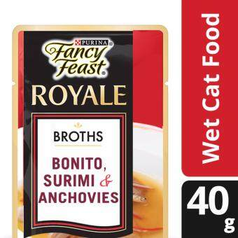 FANCY FEAST(R) BROTHS with Bonito, Surimi & Anchovies Wet Cat Food Pouch (1 pack of 40g)