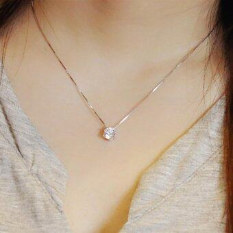 Harga Fantastic Flower 925 Sterling Silver Clavicle chain Zircon PendantNecklace Fashion women