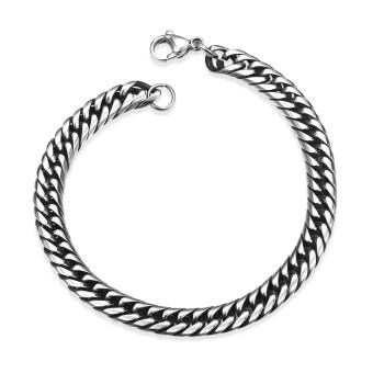 Fashion Men's Jewelry 316L Titanium Stainless steel Male chain Linkbracelets bangle good gift for Men Husband Boyfriend Boy birthday - 5