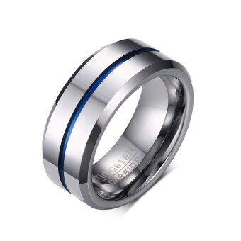 Fashion Thin Line Ring Wedding Bands 8mm Tungsten Carbide Rings for Men