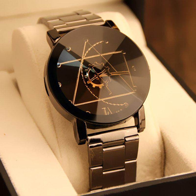 Fashion Watch Stainless Steel Man Quartz Analog Wrist Watch BK Malaysia