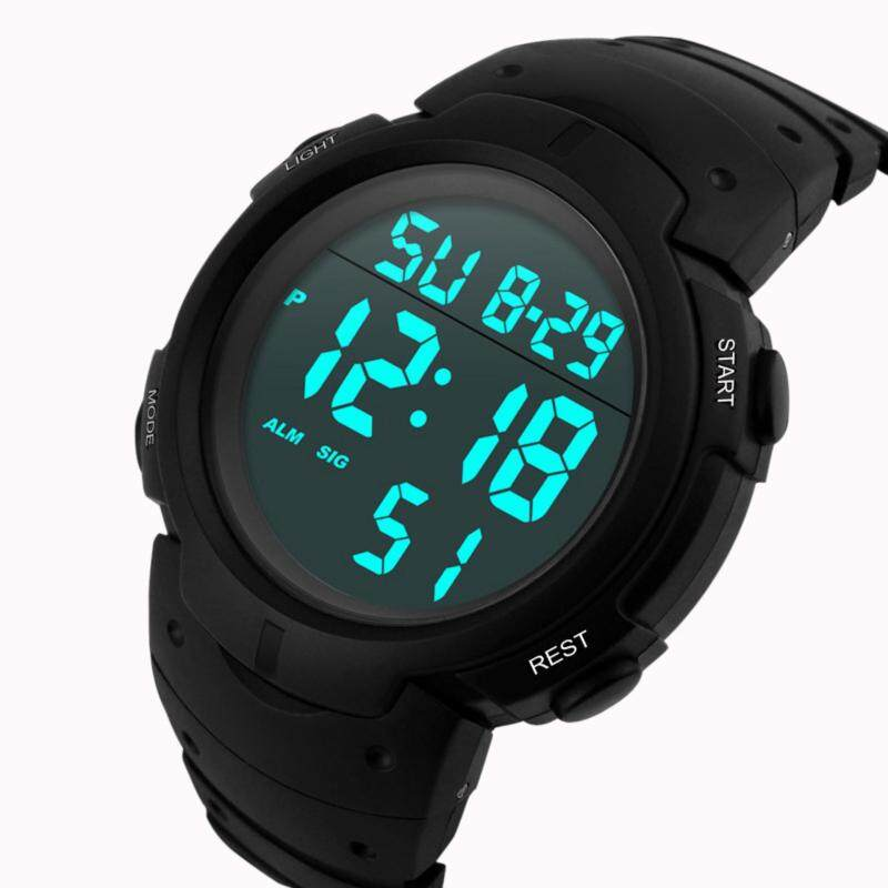 Fashion Waterproof Mens Boy LCD Digital Stopwatch Date Rubber Sport Wrist Watch Malaysia