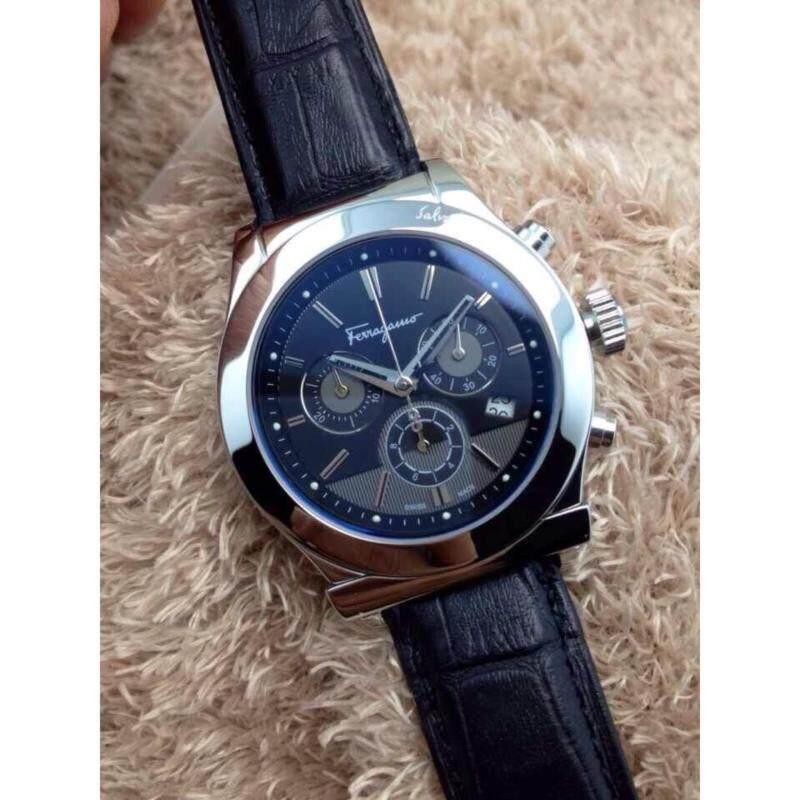 Ferragamo Black Leather Quartz Male Watch FFM090014 Malaysia