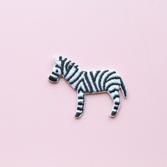 Flamingo embroidered celebrity inspired Meng animal brooch