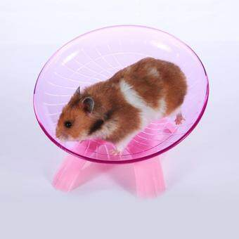 Harga Flying Saucer Exercise Wheel for Small Pets, 18 cm/7.09 inchHamsters Running Disc, Comfort Pet Toys Color:PinkSpecification:18*18*11cm