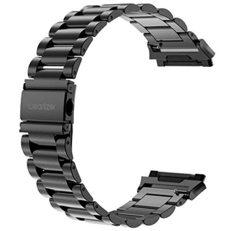 For Fitbit Ionic Bands, Wearlizer Metal Links Band Replacement for Ionic, Lux Accessories Stainless Steel Bracelet Strap with Folding Clasp for Fitbit Ionic Smartwatch - Black Malaysia