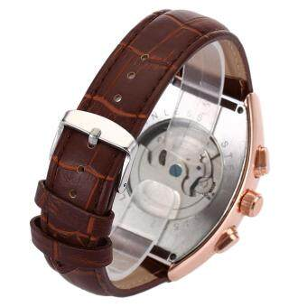 Forsining F201672801 Male Auto Mechanical Watch Tourbillon Date DayMonth Display Wristwatch - 5