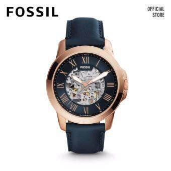 Harga FOSSIL GRANT AUTOMATIC MECHANICAL BLUE LEATHER WATCH