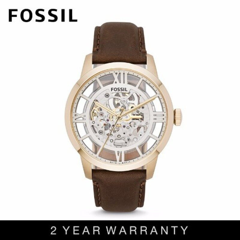 Fossil ME3043 Mens Townsman Automatic Brown Leather Watch Malaysia