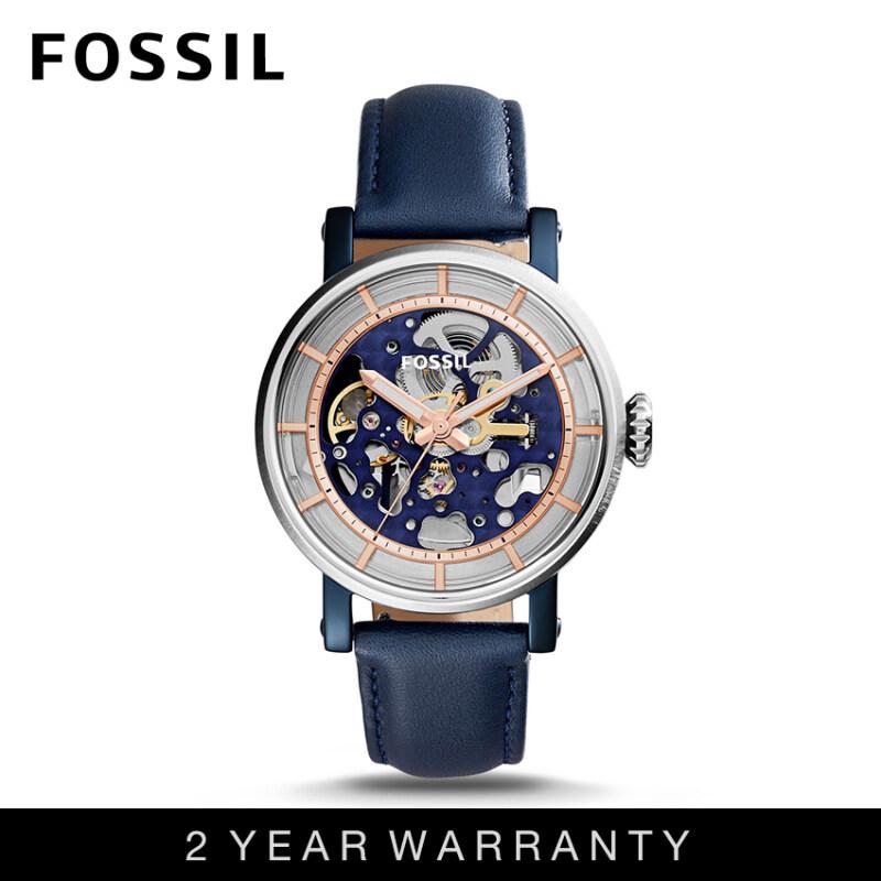 Fossil ME3136 Womens Original Boyfriend Automatic Blue Leather Watch Malaysia