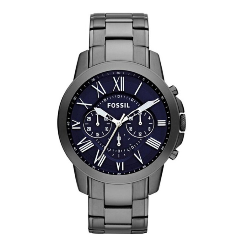 Fossil Mens Grant Chronograph Ion Pleated Watch FS4831 Malaysia