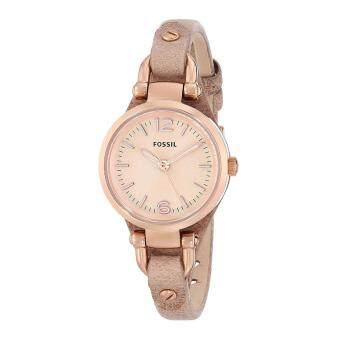 Fossil Watch Georgia Brown Stainless-Steel Case Leather Strap Ladies NWT + Warranty ES3262