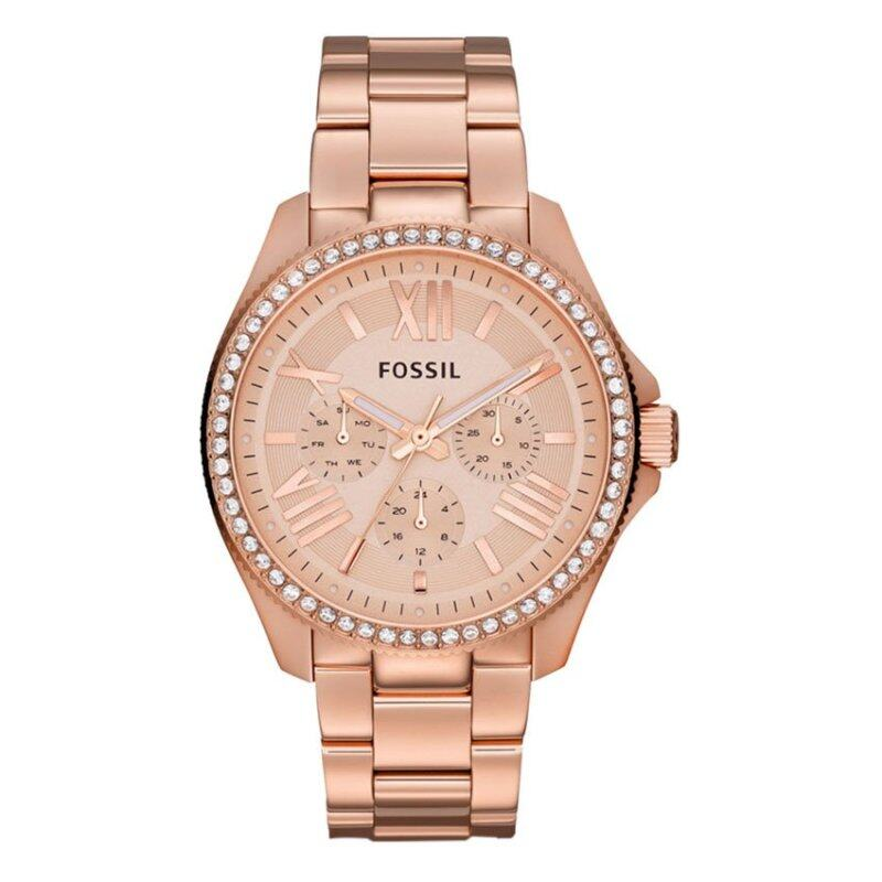 Fossil Women Cecile Multifunction Rose Gold Stainless Steel Watch AM4483 Malaysia