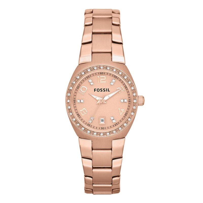 Fossil Women Colleague Rose Tone Stainless Steel Watch AM4508 Malaysia