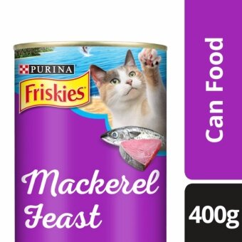 FRISKIES(R) Mackerel Feast Mackerel Flavour Wet Cat Food Can (1 Can of 400g)