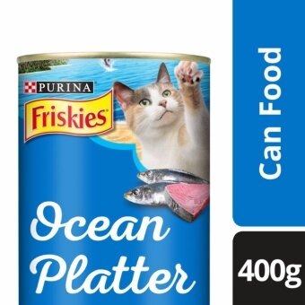 FRISKIES(R) Ocean Platter Ocean Fish Flavour Wet Cat Food Can (1 Can of 400g)