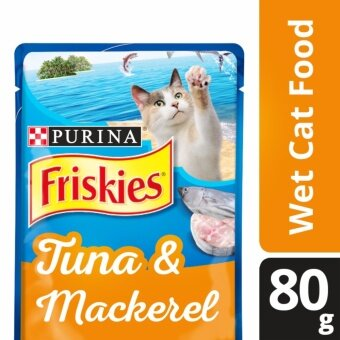 Harga FRISKIES(R) Tuna & Mackerel Wet Adult Cat Food Pouch (Pack of80g)