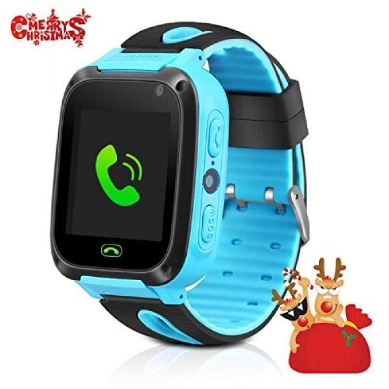 From USA GPS Tracker Kids Smart Watch, Phone watch for Kids, Silicone watch touch screen version Camera with SIM Anti-lost phone Pedometer SOS Camera Smart watch Bracelet Children Girls Boys Christmas Gifts Malaysia