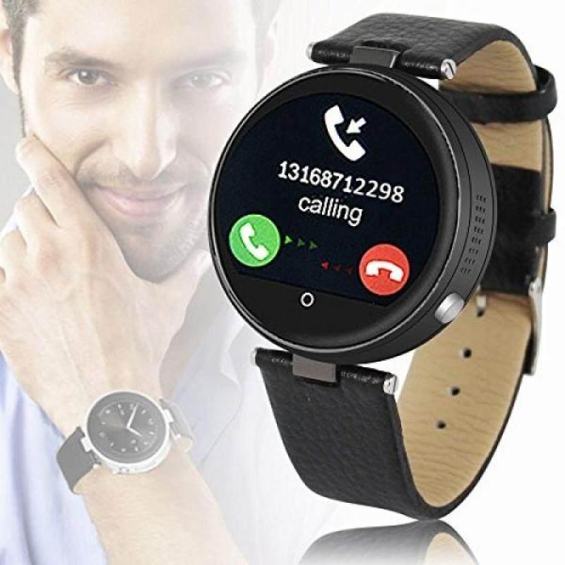 From USA Indigi #1 Gift Idea Unisex Bluetooth Smart Watch Phone Stylish Leather Band Metal Case Malaysia