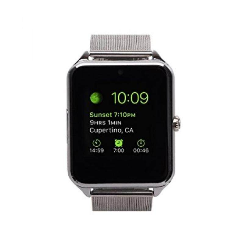 From USA MSRM Water Splash Resistant Smart Watch Anti Lost and Hand free for Android 4.3 above and iPhone 5s/6/6s/7/7s (Partial Functions) (GB08 Silver) Malaysia