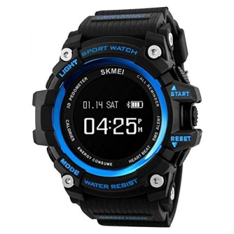 From USA SKMEI 1188 Men Smart Watch Fashion Sport Watches Pedometer Remote Camera Man Clock Bluetooth Calorie Digital Wristwatches Malaysia