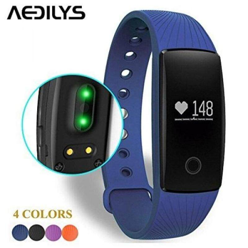 From USA Smart Bracelet , AEDILYS Bluetooth 4.0 Smart Bracelet Smart Band Heart Rate Monitor Dynamic Wristband Pedometer Smart band Bracelet Fitness Tracker for IOS Android - Blue Malaysia