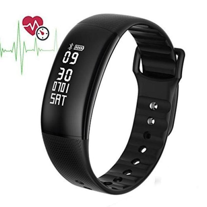 From USA Smart Sports Bracelet MOREFINE IP67 Waterproof Bluetooth Watch Band Fitness Activity Tracker 0.87 OLED Screen Wristband Heart Rate Blood Pressure Monitor Compatible with iOS/Android Health Gift Malaysia