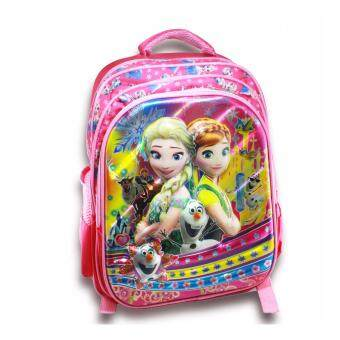 Harga Frozen Anna Elsa 6D 3 compartment School bag / Backpack 3compartment