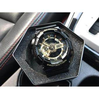 Harga G-SHOCK BLACK GOLD MEN WATCHES GA110GB-1A OEM