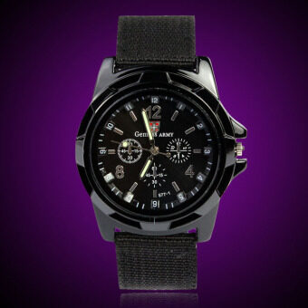 Gemius Army Racing Force Military Sport Mens Fabric Band WatchBlack