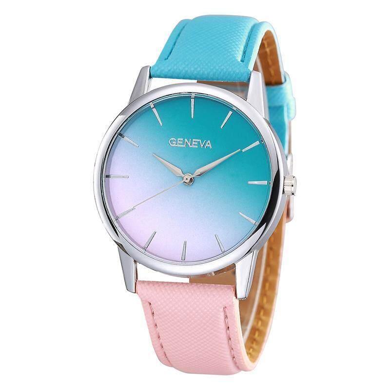 Geneva Fashion Ladies Watch Gradient Color Woman Watch - Blue Pink Malaysia