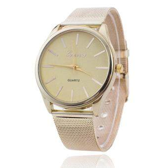 Harga GENEVA Women Ladies Crystal Gold Mesh Band Wrist Watch Gold