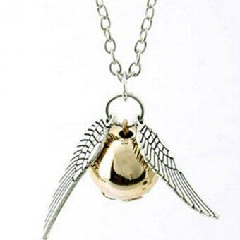 Harga HengSong Harry Potter Golden Snitch Quicksilver Golden PearlNecklace Fairy Jewelry