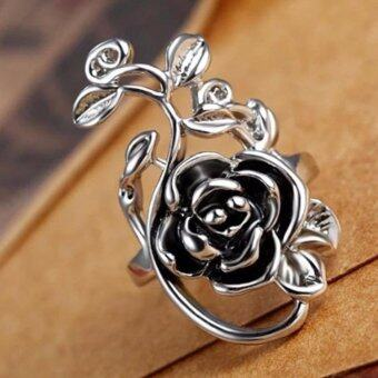 Harga Hequ New Personalized Retro Palace Hollow Carved Rose Ring JewelryWholesale
