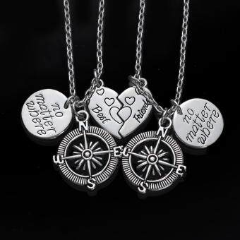 Harga Hequ No Matter Where Compass Necklaces Best Friends Long DistanceRelationship Necklace Unisex Jewelry