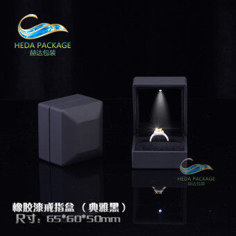 High-grade LED luminous ring box jewelry box packaging creativemarriage proposal ring box pendant box necklace box free shipping