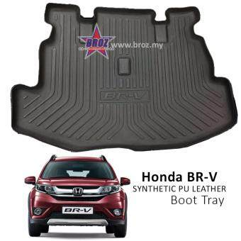 Harga Honda BRV BR-V Synthetic PU Leather Car Boot Tray Luggage CargoTrunk Tray