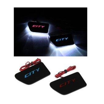 Harga Honda City LED Light Red Premium Door Plate (Red)