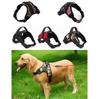 Harga Hot Sale Dog Soft Harness Adjustable Pet Dog Big Exit Harness VestCollar Strap for Small and Large Dogs Pitbulls - Red (L)