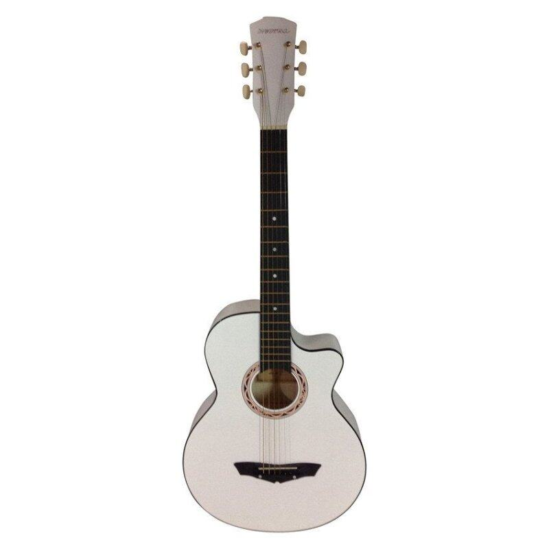 Hyburg Acoustic Guitar 38 Inch ( White) + Tuner Malaysia