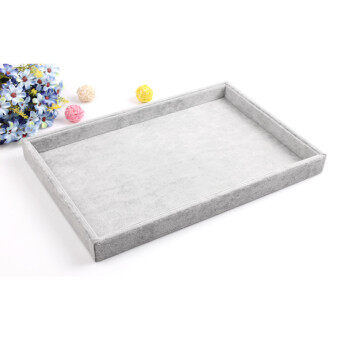 Harga Ice gray velvet necklace Watch Jewelry tray display Tray Jewelry jewelry display storage tray box to see goods plate props