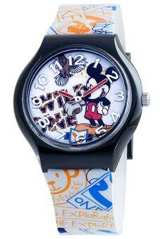 Harga Disney Mickey Mouse White Rubber Strap Watch MSFR1040-04A
