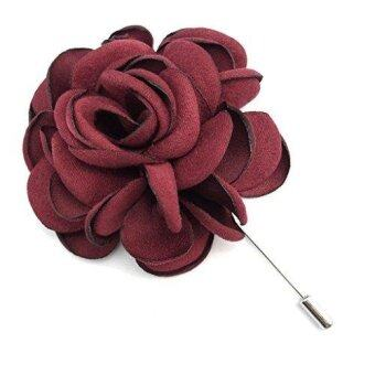Harga Men's Flower Lapel Pin Brooch Handmade Boutonniere for Suit