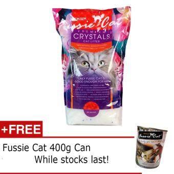 Harga Fussie Cat Crystal Cat Litter, 5L