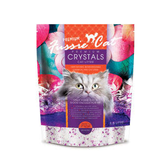 Harga Fussie Cat Premium Crystals Cat Litter 3.8L