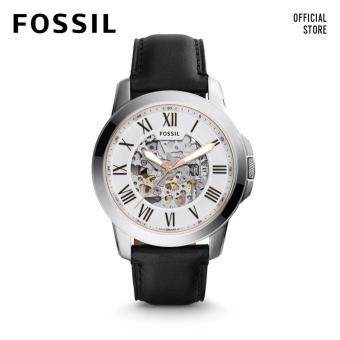 Harga FOSSIL GRANT AUTOMATIC MECHANICALBLACK LEATHER WATCH