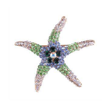Harga FANCICO New-Gorgeous-Women-Lady-Charming-Starfish-Crystal-Rhinestone-Pin-Brooch-8-Colors