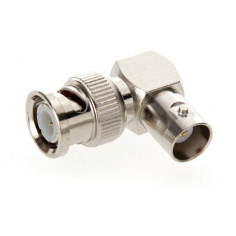 Harga BNC Male to BNC Female Jack in Series Right Angle RF Adapter Connector