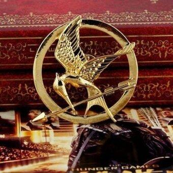 Harga New Arrival Movie Jewelry The Hunger Game 3 Bird Brooches Alloy Pins Couple Brooches(Color:Gold)