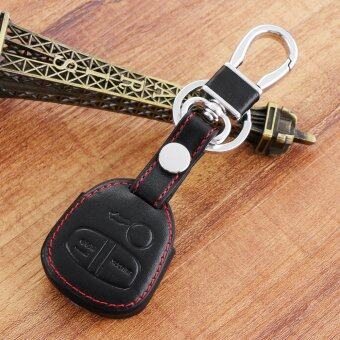 Harga Black Leather Remote Control Car Keychain key Cover Case For Mitsubishi ASX Outlander Lancer EX Galant Pajero sport protection